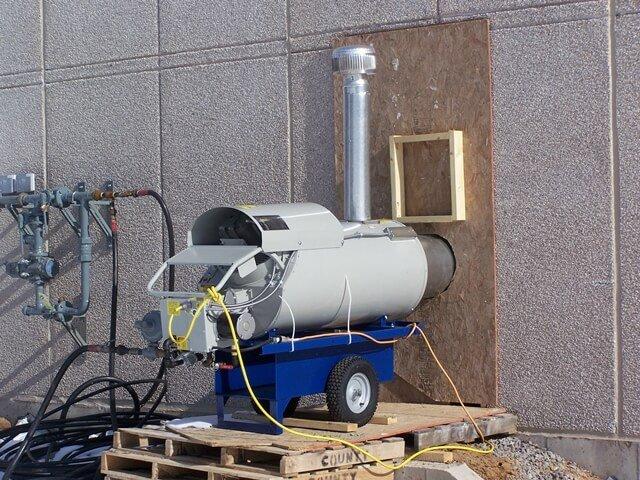 Temporary Heat Rentals - Job site heating rentals