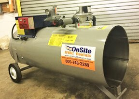 Direct Fired Heater Rentals