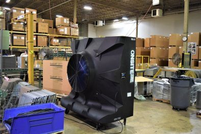 Warehouse Cooling Onsite Hvac Rentals